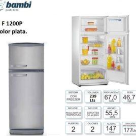 HELADERA BAMBI 2F-1200 PLATA C/FREEZER E0000237
