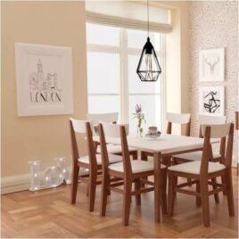 Mesa y sillas inmacol mediterraneo castaño
