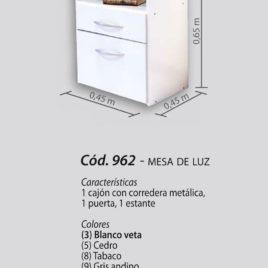 MESA DE LUZ PLATINUM 962 BLANCO 0096203